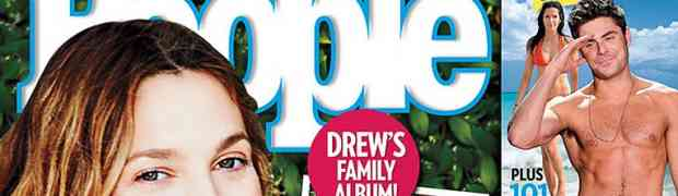 New 'People' Cover: First Baby Photos of Drew Barrymore's Daughter Frankie