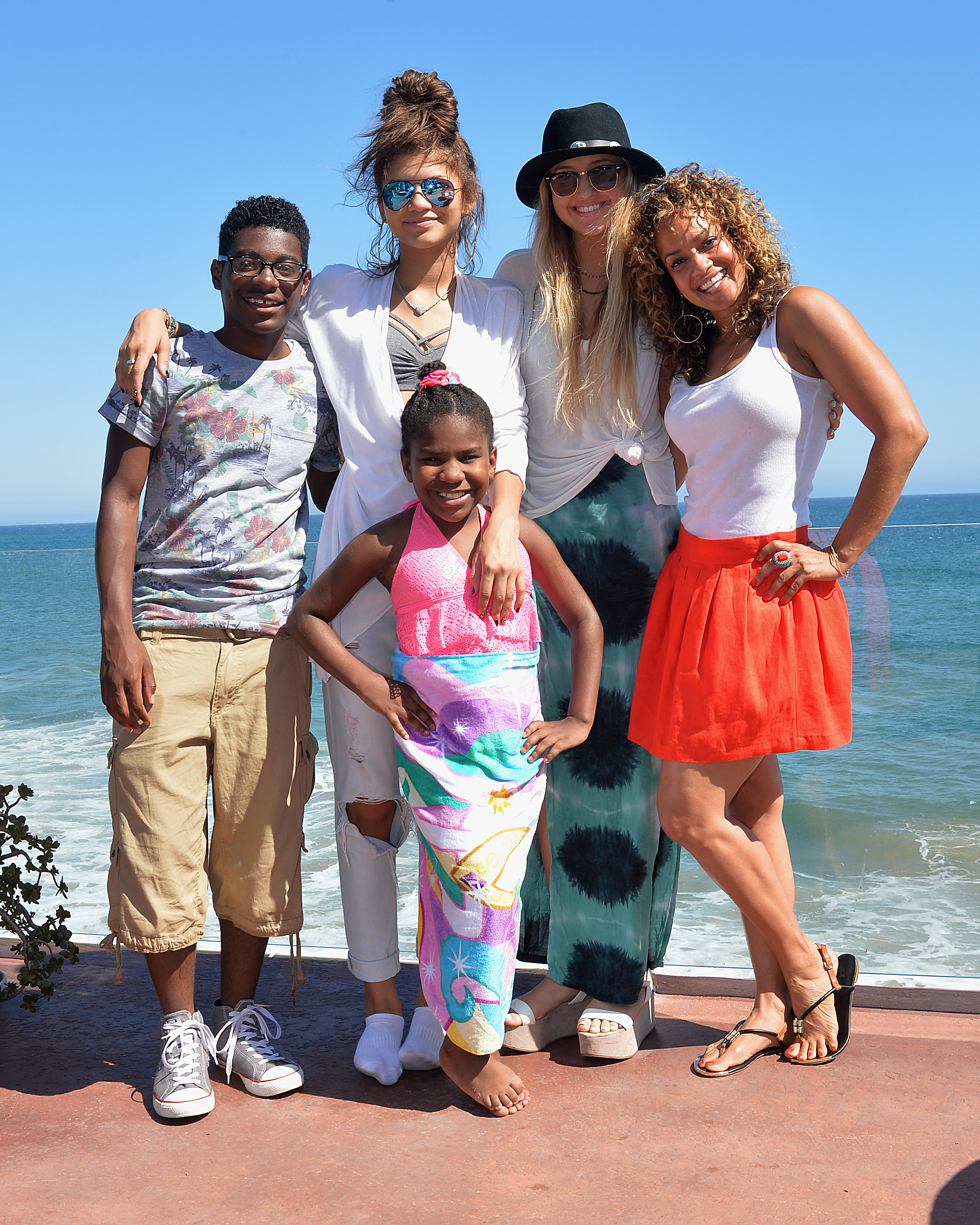 The cast of K.C. Undercover at a party hosted by POM Juice Blends for the the Disney Channel on Aug. 17  at The Beach Haus in Malibu. (Brian Lindensmith)