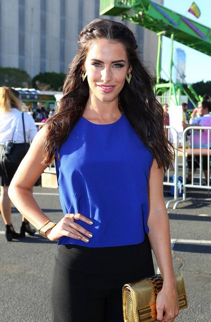 Jessica Lowndes attends the 3rd Annual BeautyCon LA event to catch a performance by Rixton in L.A. Aug. 16. (Alex Wyman)