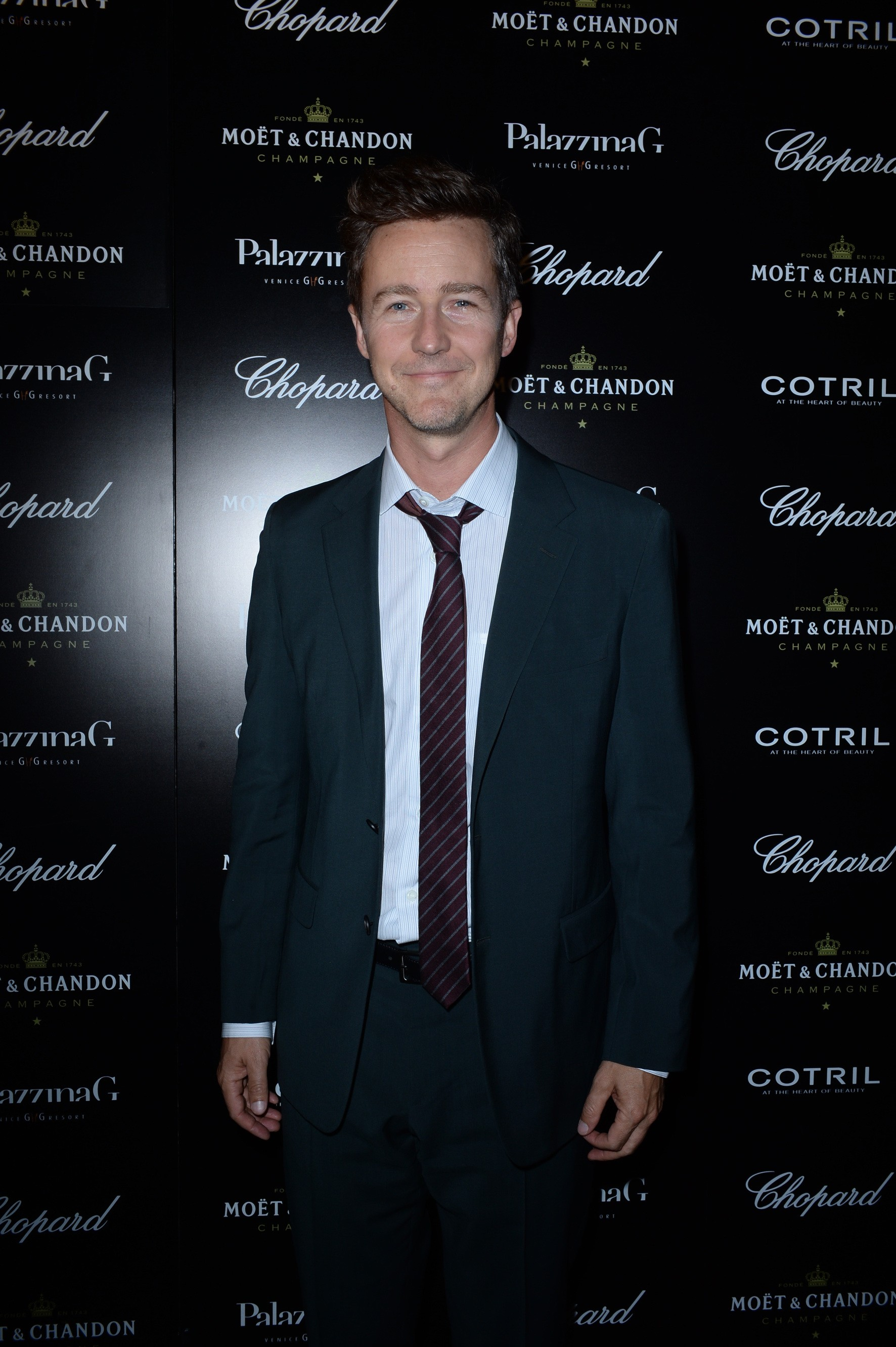 Ed Norton attends The PalazzinaG Hotel's 71st Venice Film Festival Opening Party sponsored by Chopard, Moët Chandon and Cotril.