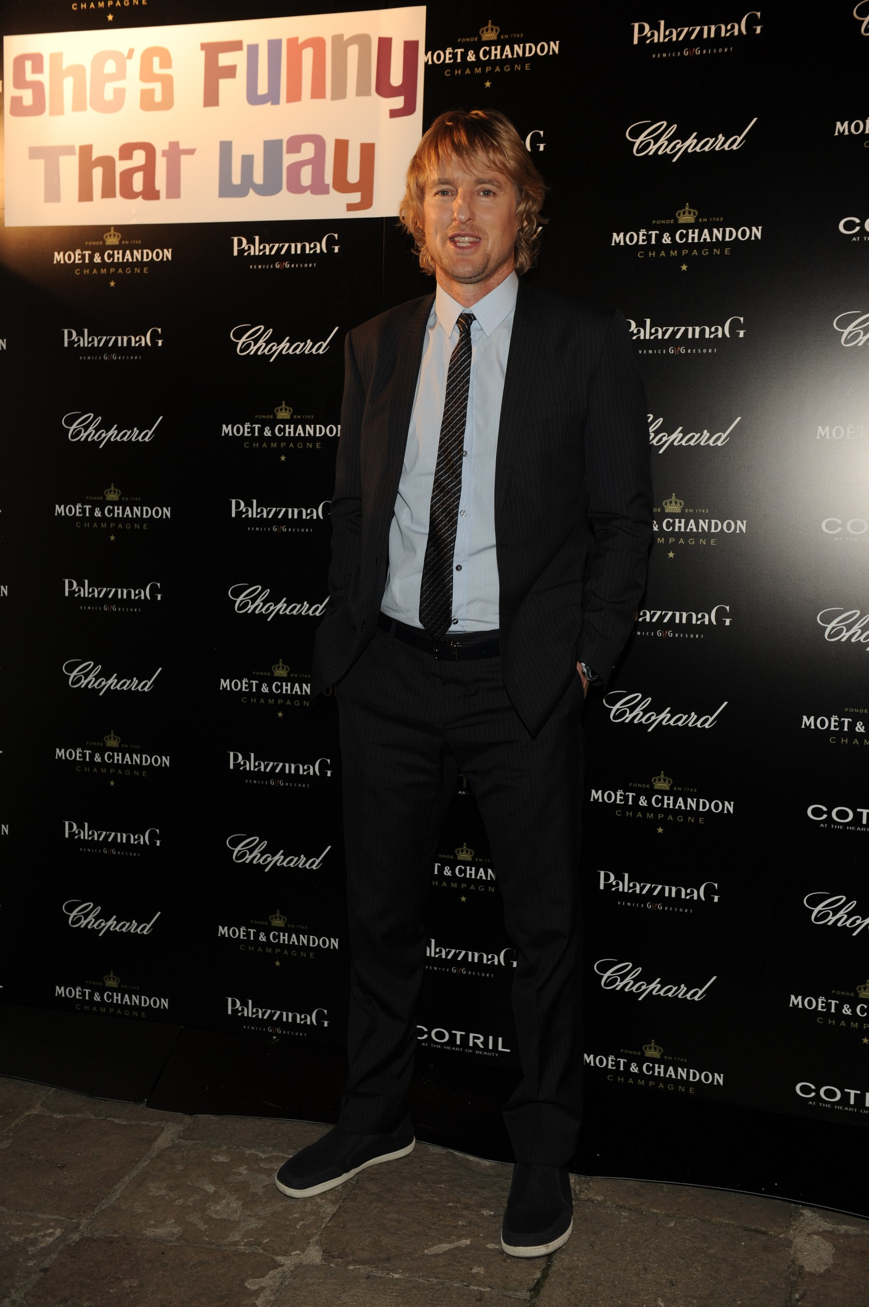 Owen Wilson attends The PalazzinaG Hotel's 71st Venice Film Festival Dinner & Party sponsored by Chopard, Moët Chandon and Cotril.