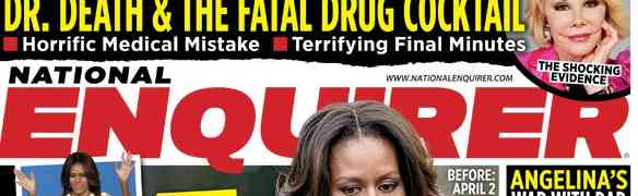 New National Enquirer: Michelle Obama Had Lipo, Hypothesize Tab's 'Medical Experts'
