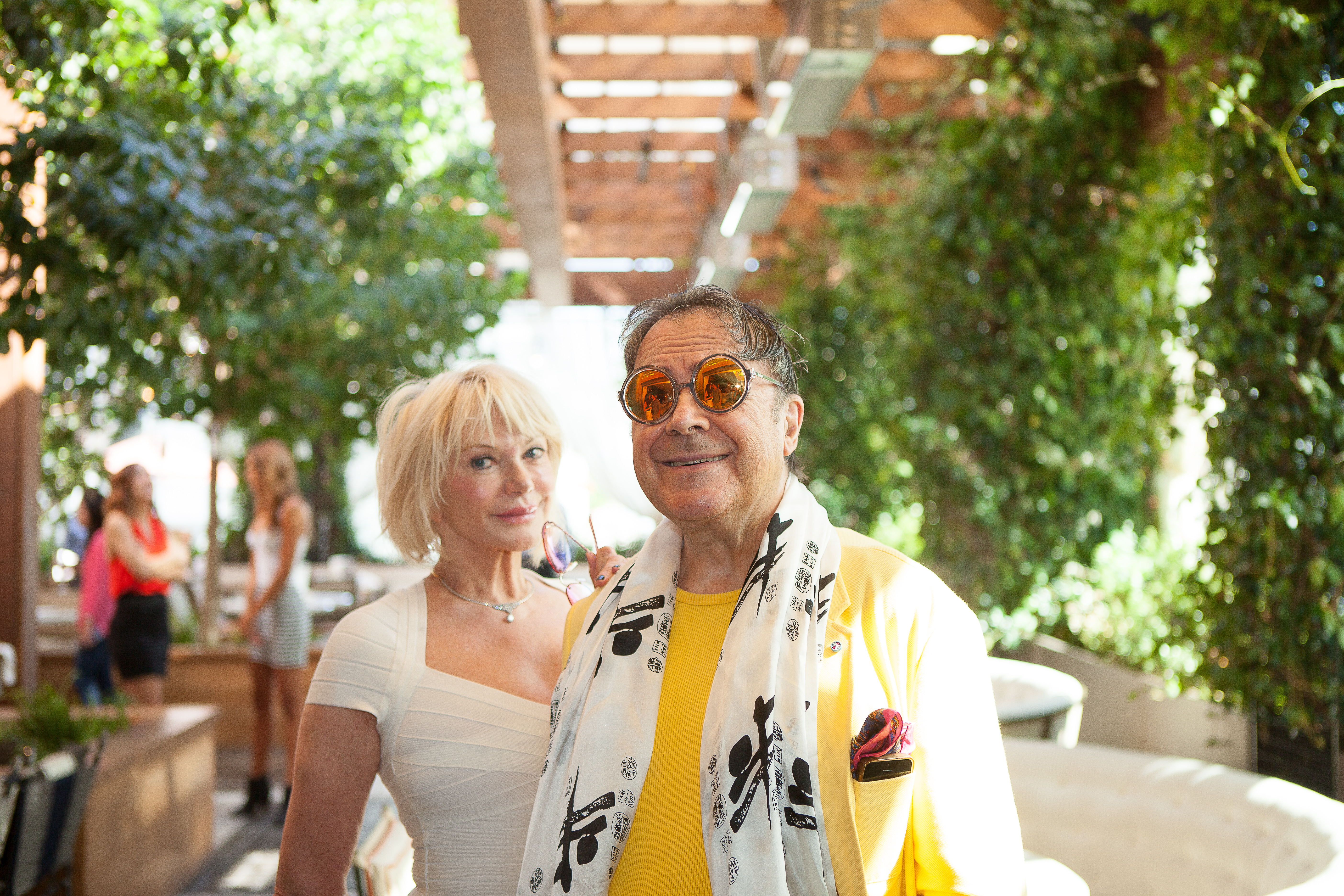 Charles and Christa Billic at the the Love Brunch LA Launch at RivaBella Ristorante in West Hollywood on Oct. 26.