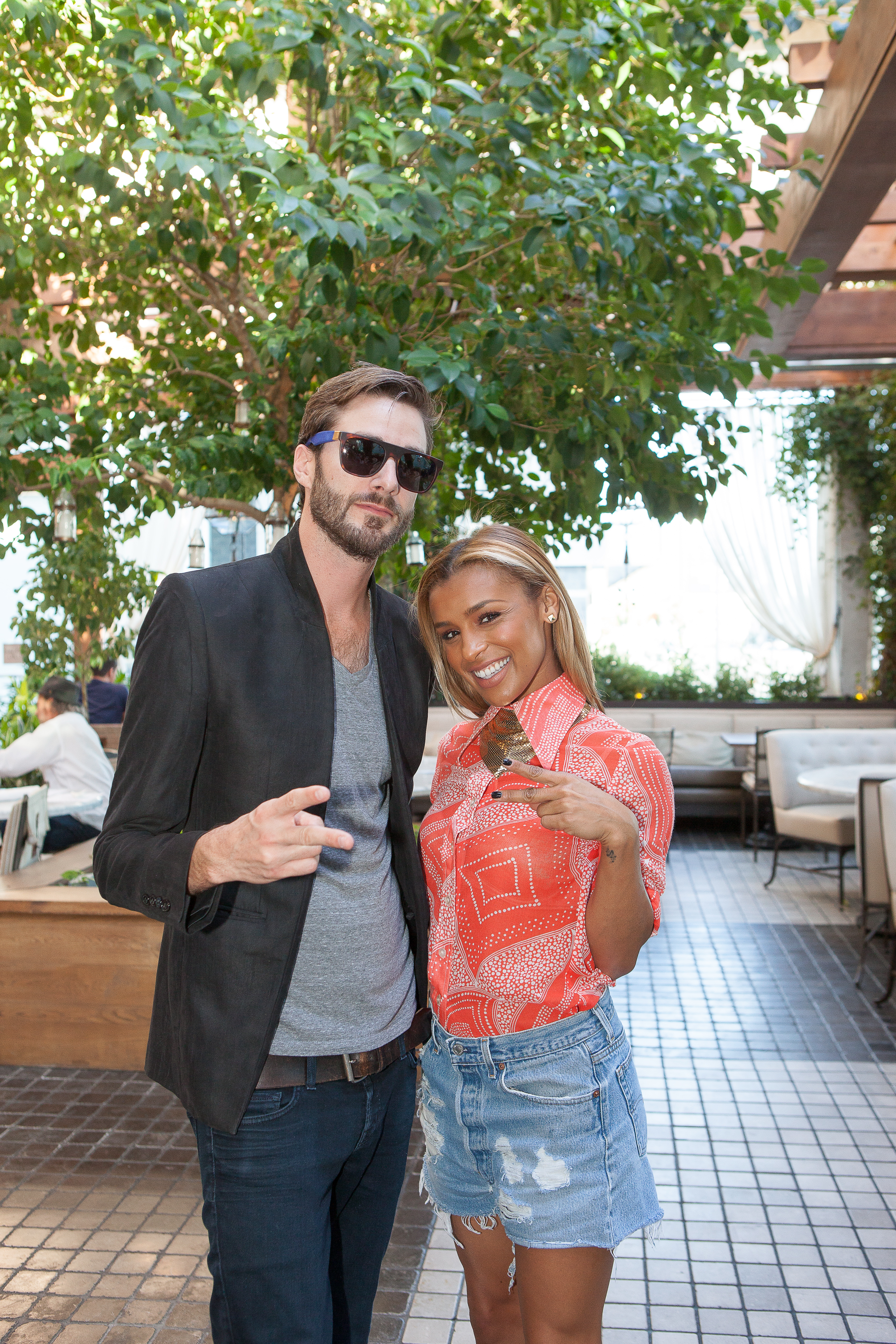 DJ Ammo (aka Damien LeRoy )and Melody Thornton at the Love Brunch LA Launch at RivaBella Ristorante in West Hollywood on Oct. 26.