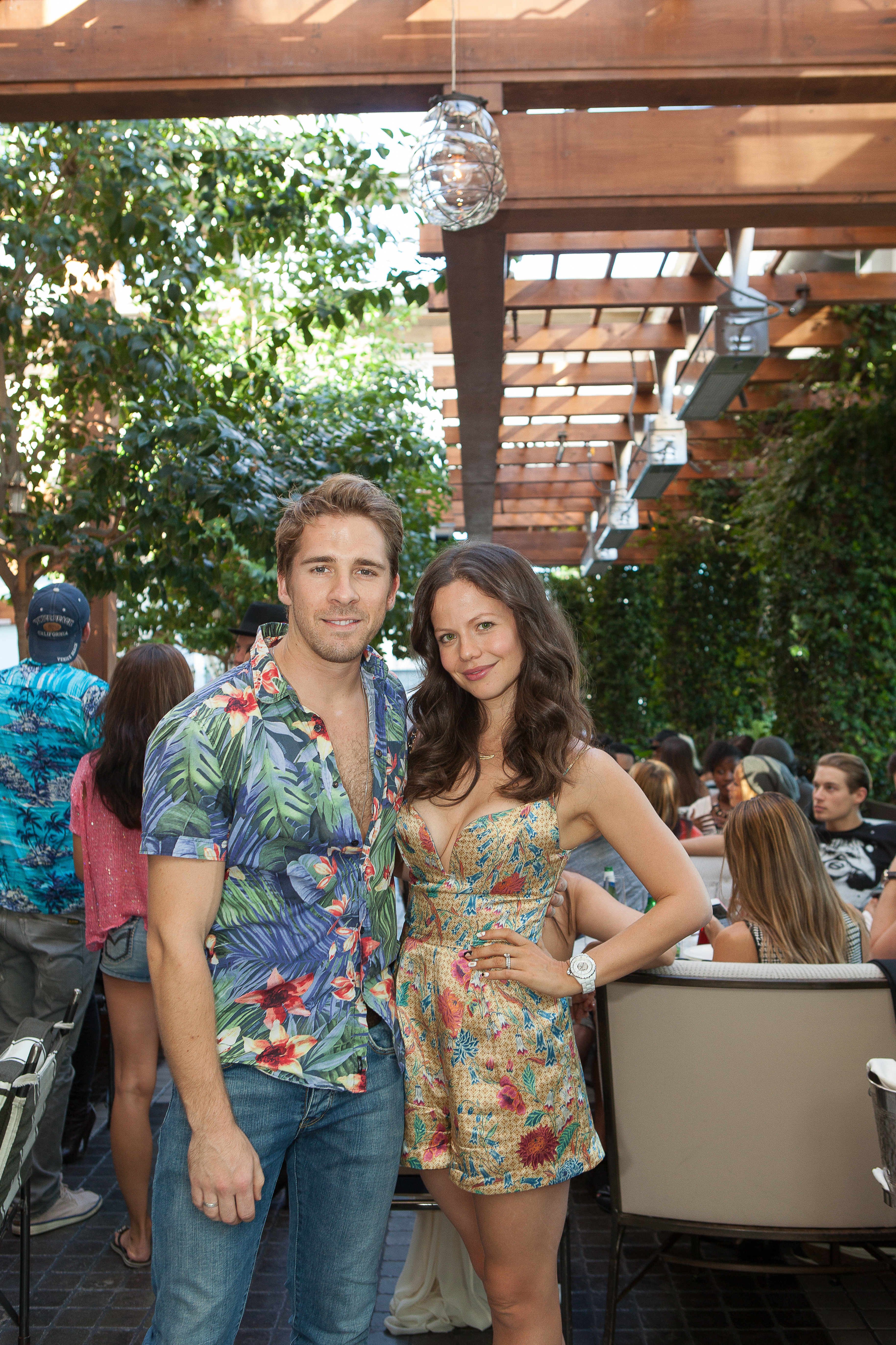 Hugh Sheridan and Melody Thornton ttends the Love Brunch LA Launch at RivaBella Ristorante in West Hollywood on Oct. 26.