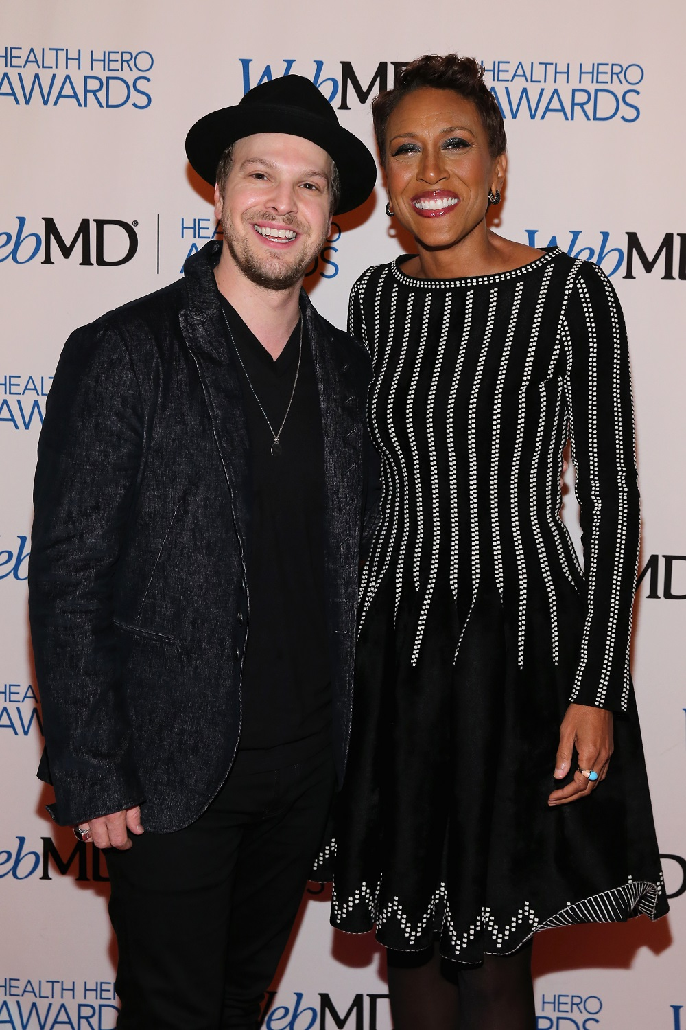 NEW YORK, NY - NOVEMBER 06: Musician Gavin DeGraw (L) and Anchor of Good Morning America Robin Roberts attend the 2014 Health Hero Awards hosted by WebMD at Times Center on November 6, 2014 in New York City.  (Photo by Neilson Barnard/Getty Images for WebMD)