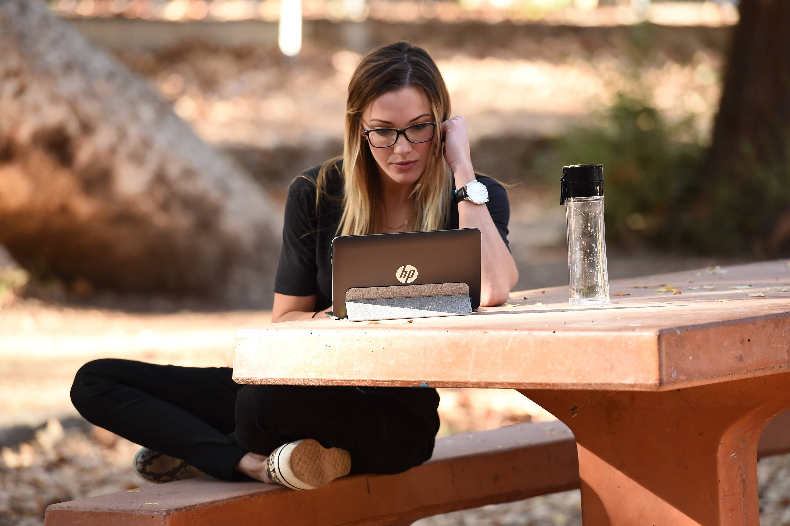 Arrow actress Katie Cassidy in L.A.'s Griffith Park. (Invision/AP Images)