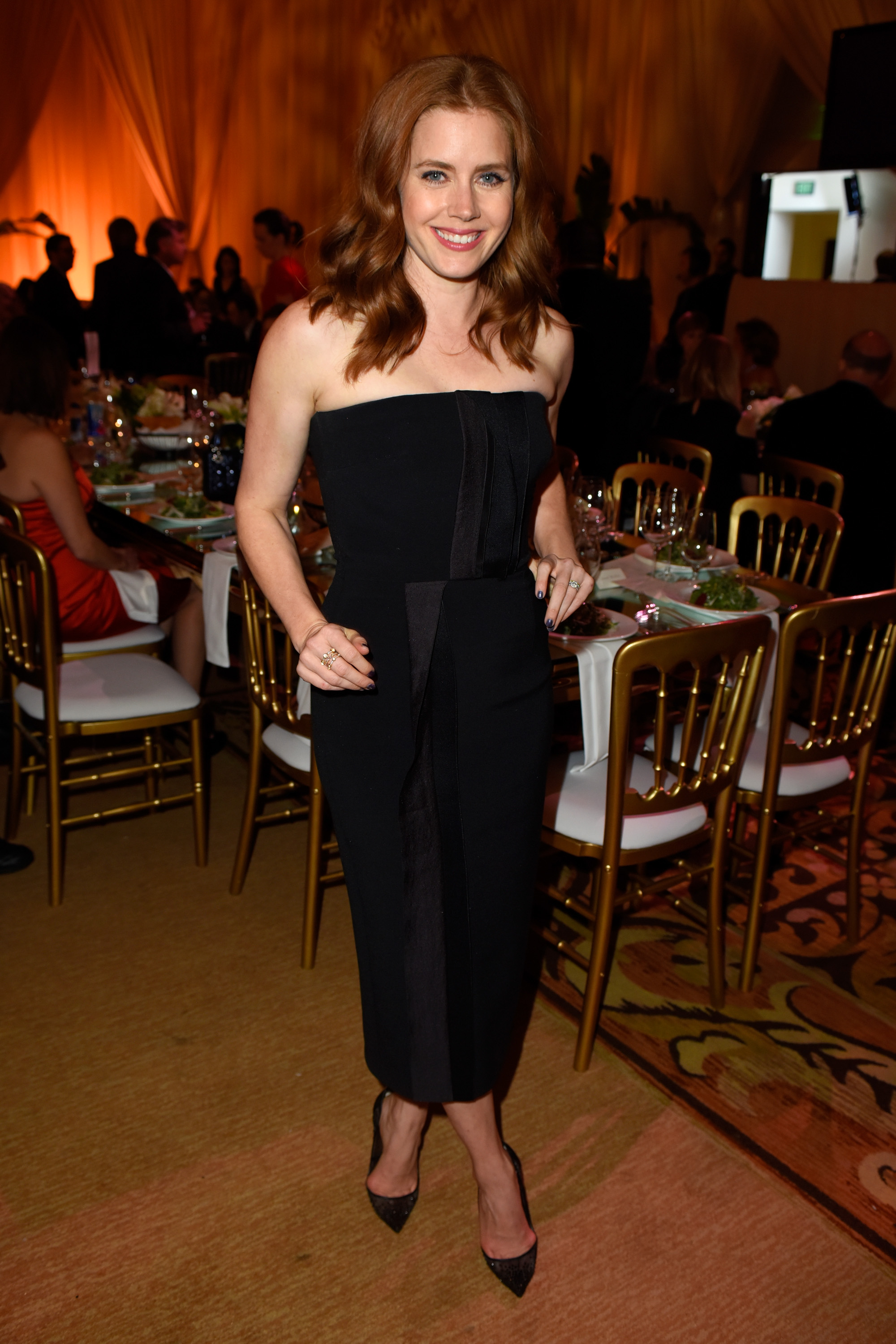 Amy Adams at The Weinstein Company's Academy Awards Nominees Dinner, hosted by Meiomi Wines on February 21, 2015 at The Montage in L.A.  (Charley Gallay/Getty Images)