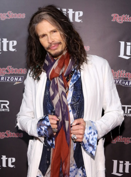 Steven Tyler at the Rolling Stone LIVE Presented By Miller Lite & Talent Resources Sports on Feb. 1 in Phoenix.