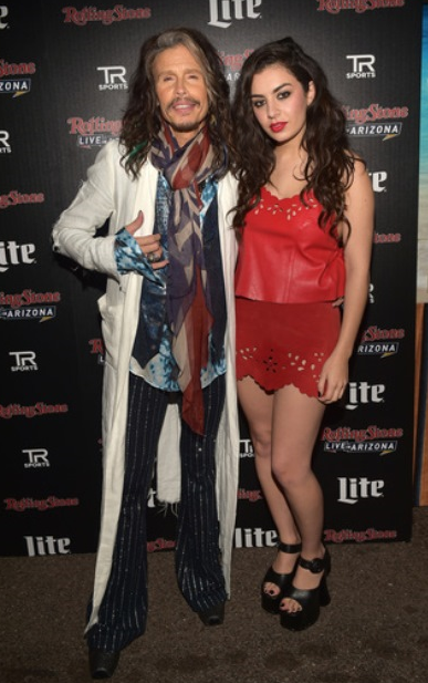 Steven Tyler and Charlie XCX at the Rolling Stone LIVE Presented By Miller Lite & Talent Resources Sports on Feb. 1 in Phoenix.