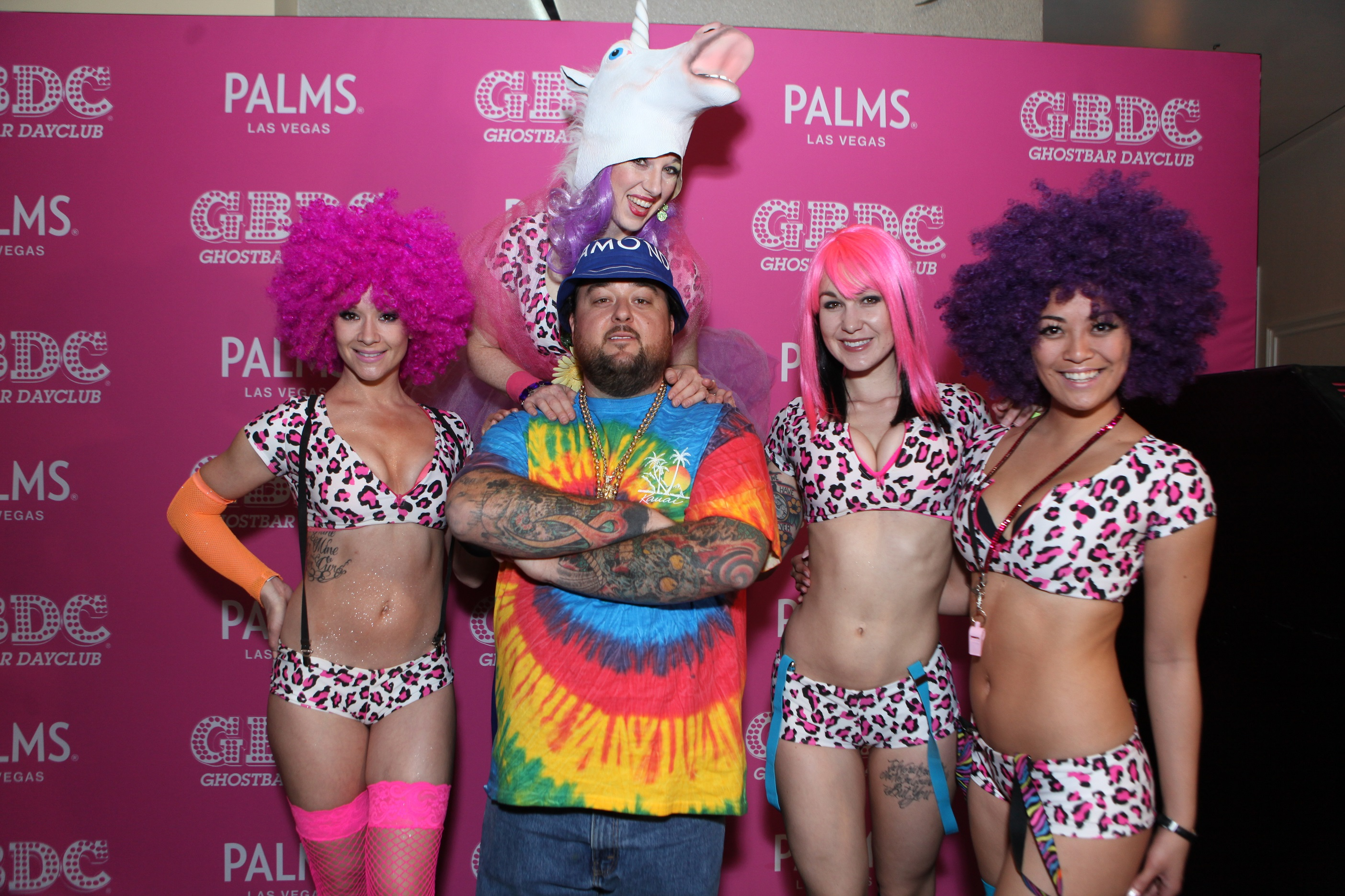Pawn Star's Chumlee at Las Vegas' Ghostbar Dayclub, where he had his first-ever DJ set, on Feb. 28, 2015. (Joe Fury)