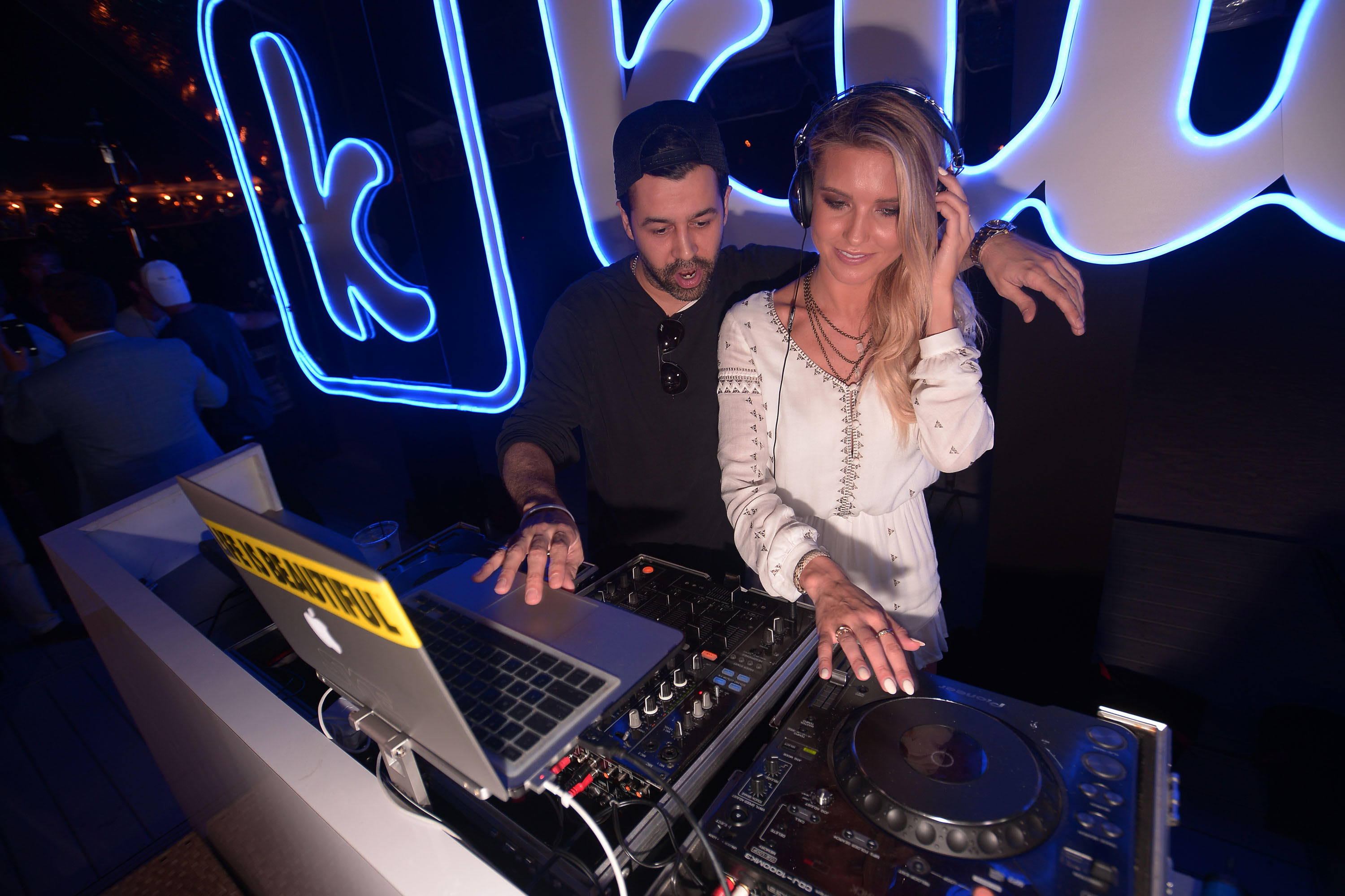 Audrina Patridge shows off her DJ skills at the Klique App South Florida Launch Party at the Raleigh Hotel in Miami on June 6. (WorldRedEye.com)
