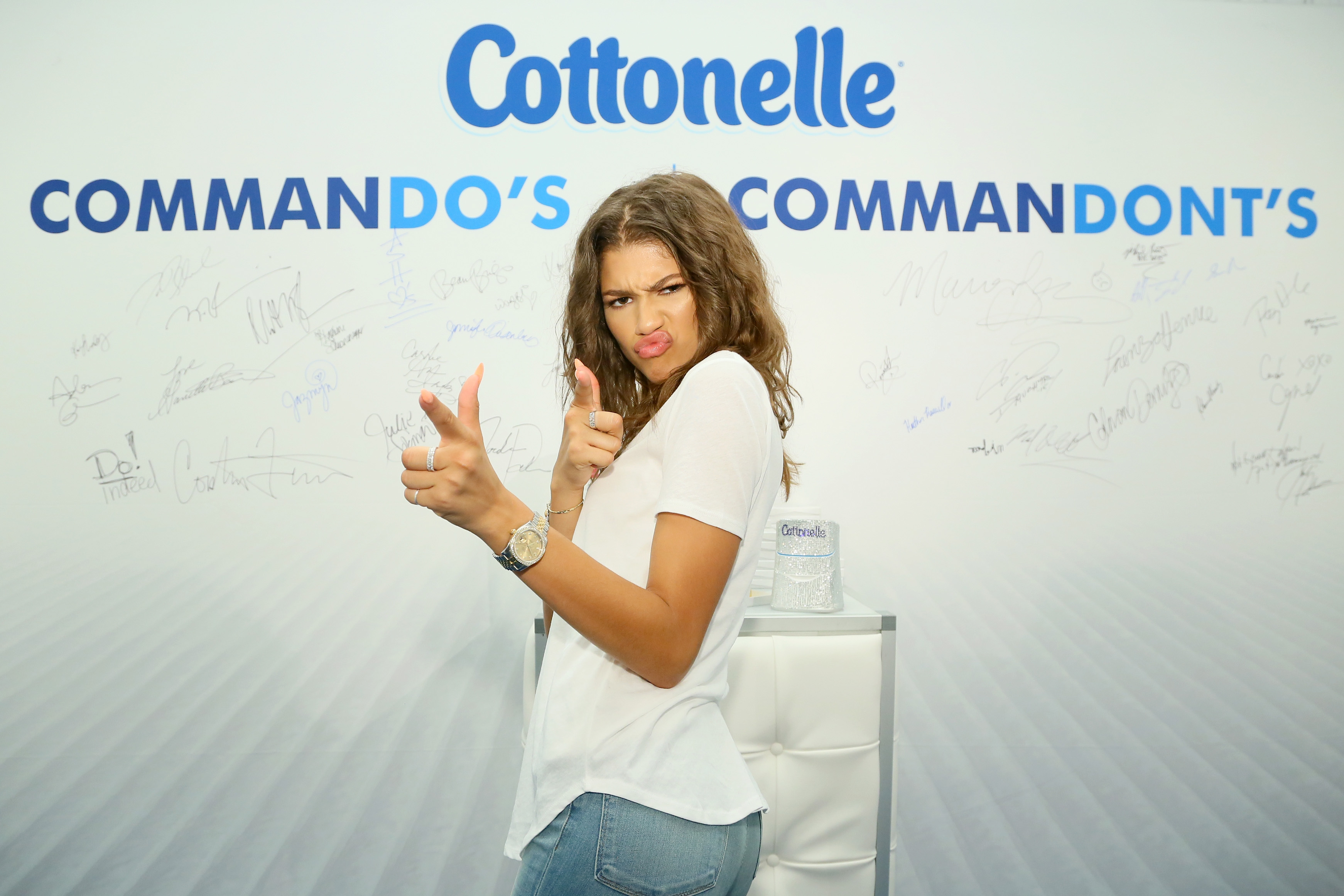 "Zendaya attends Cottonelle Dares Celebrities to Go Commando at EXTRA's ""WEEKEND OF 